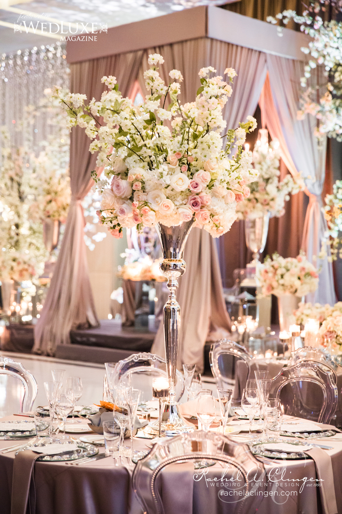 decor centerpieces cherry reception blossom hotel stunning seasons blush toronto four rachel weddings table clingen luxury event events silver flower