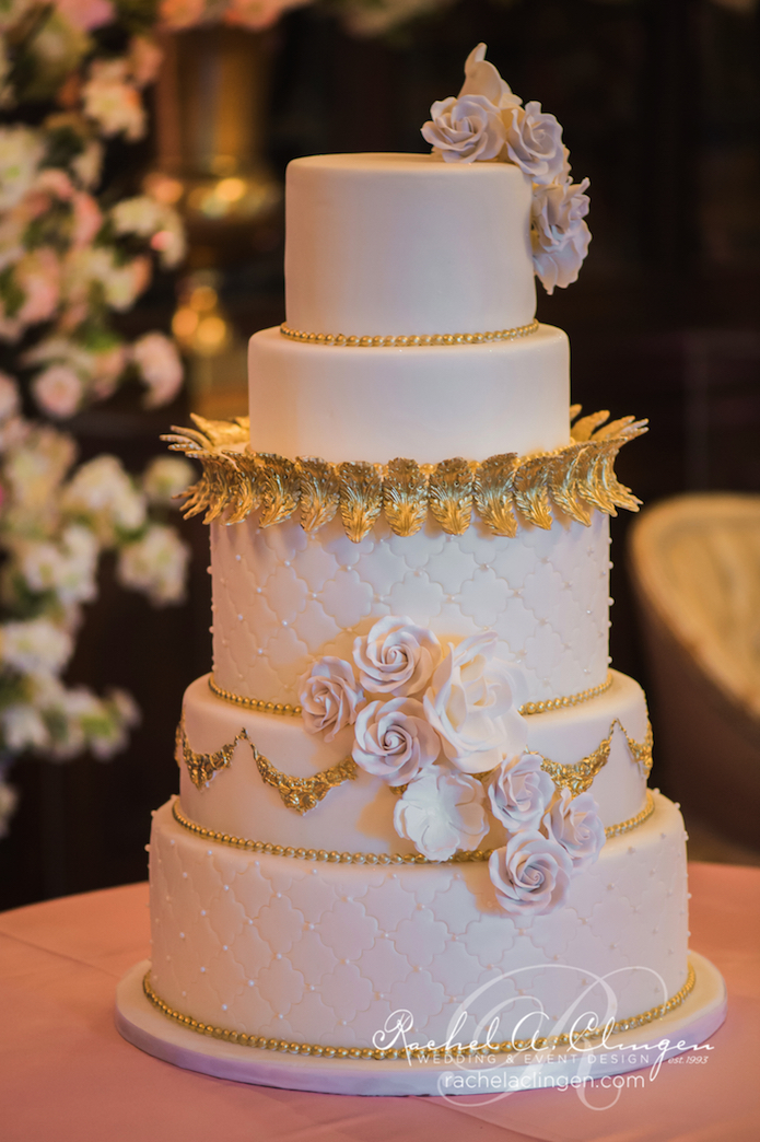 Pink-Gold-Wedding-Cakes