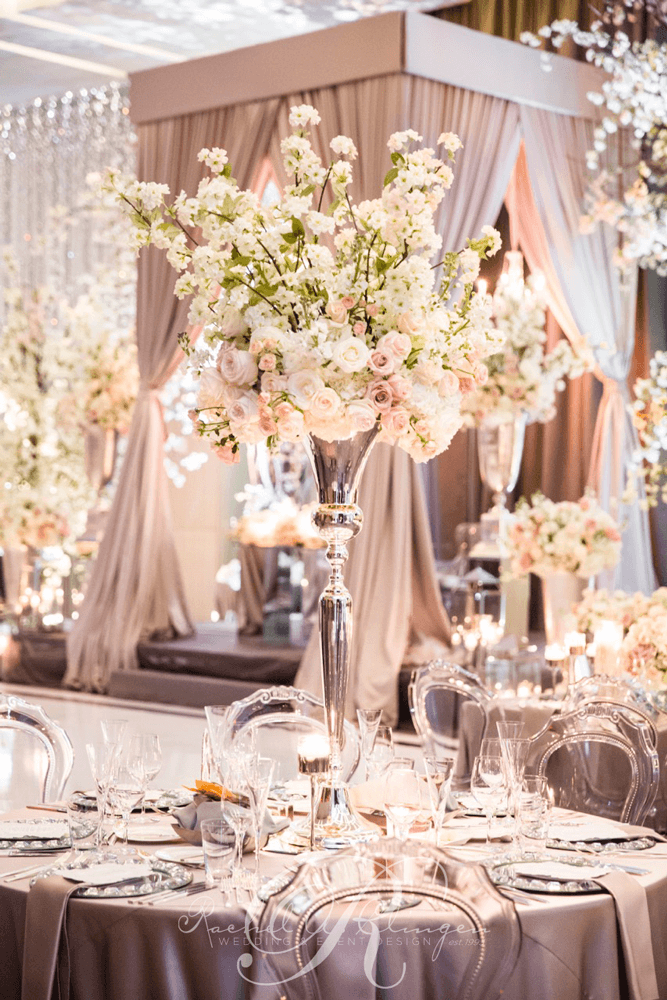 Iva & Chris Four Seasons Toronto wedding centerpieces