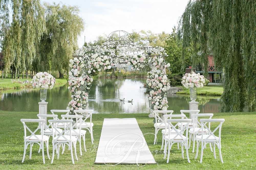 Floral archway canopy outdoor wedding toronto wedding decor floral archway canopy outdoor wedding toronto junglespirit Image collections