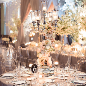 Lush Candle and blossom centerpieces Toronto