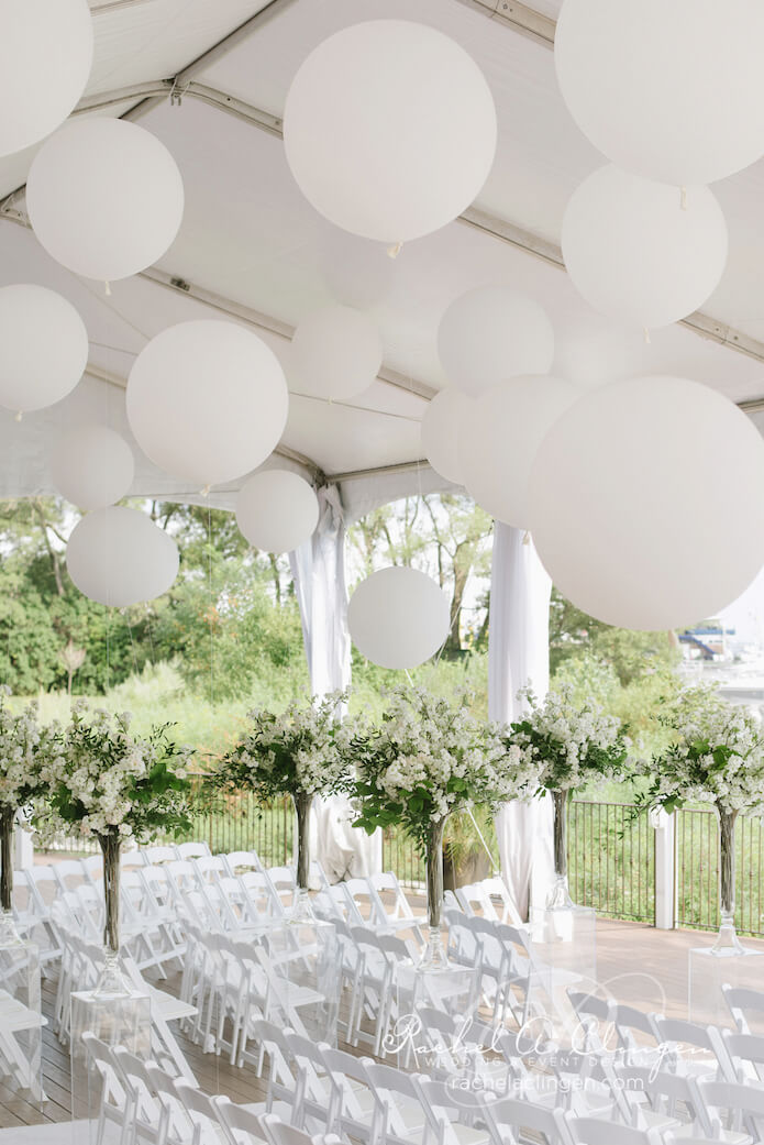 Thao & Alex Palais Royale tent weddings large balloons