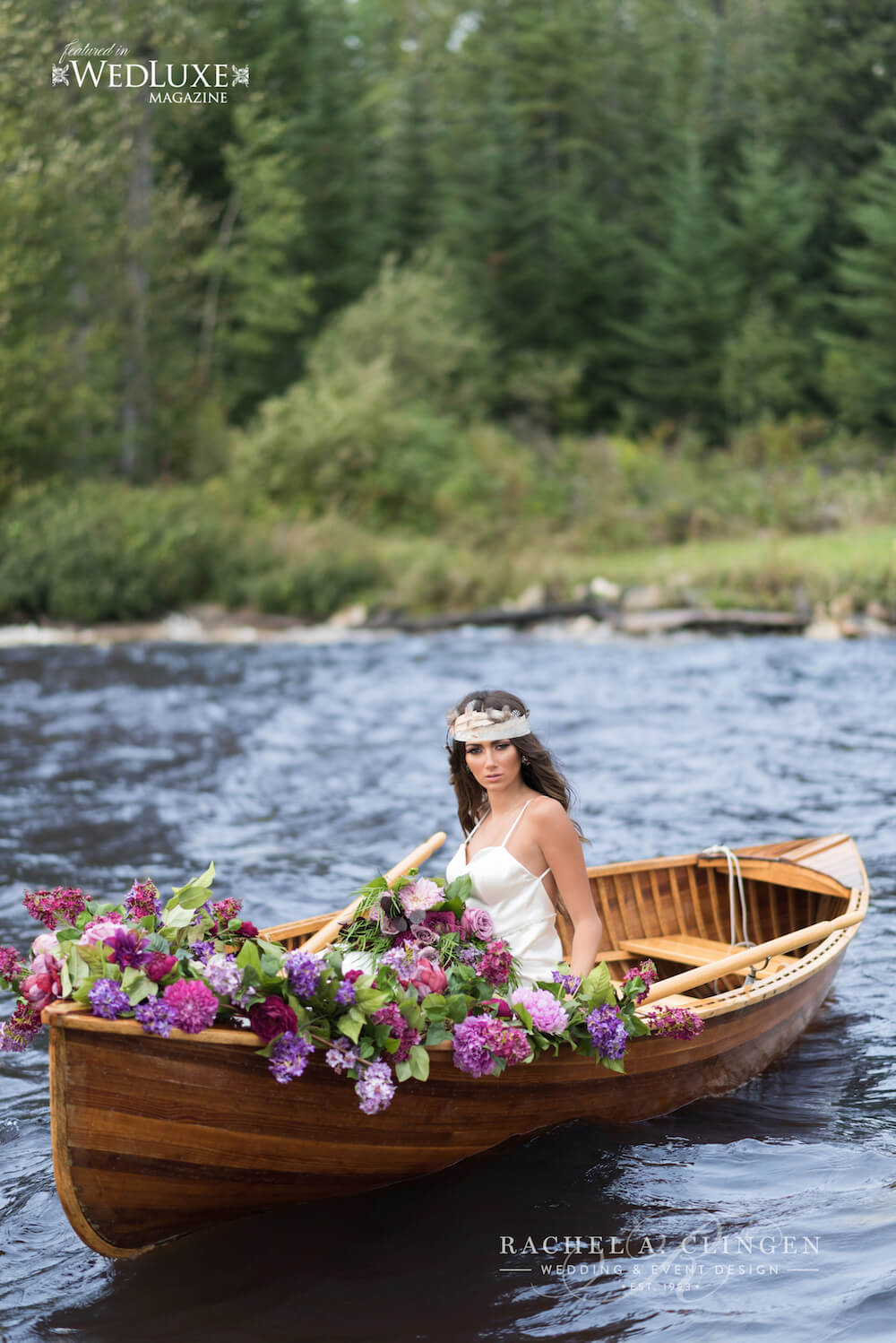 Glamping-Wedding-Canoe-Flowers