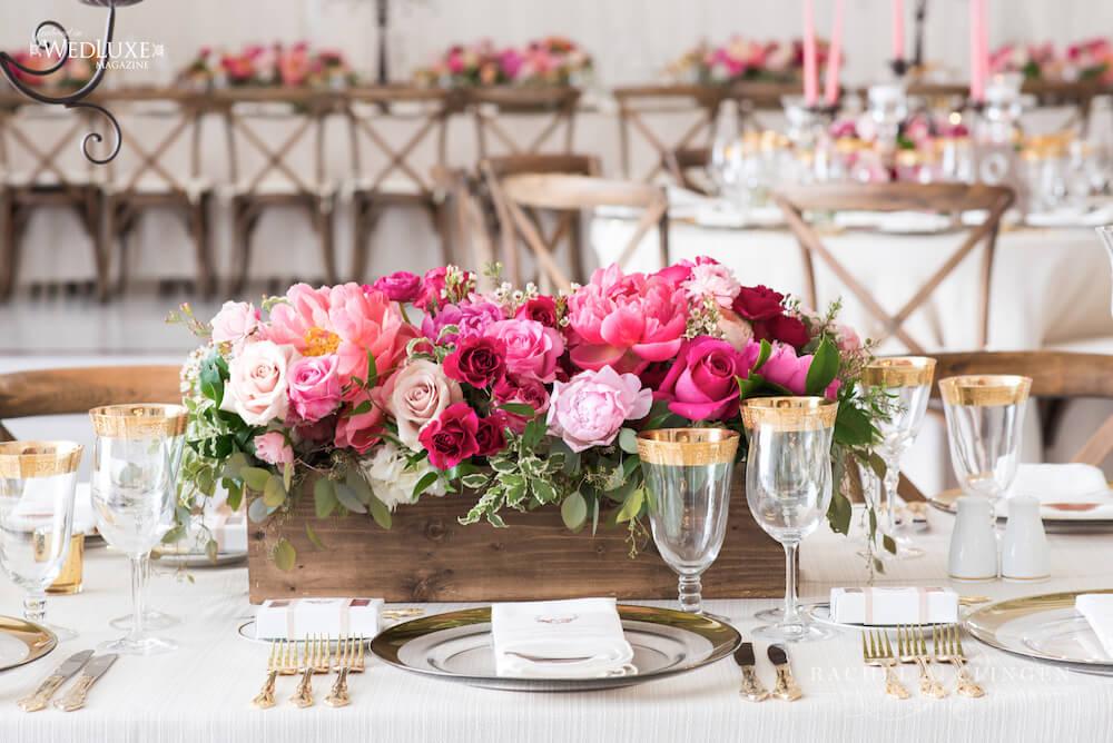 Muskoka Wedding Decor Coral Pink Flowers Wedding Decor Toronto