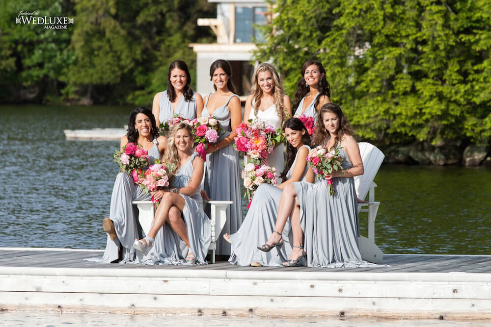 bridesmaids-dock-lake-joe-wedding