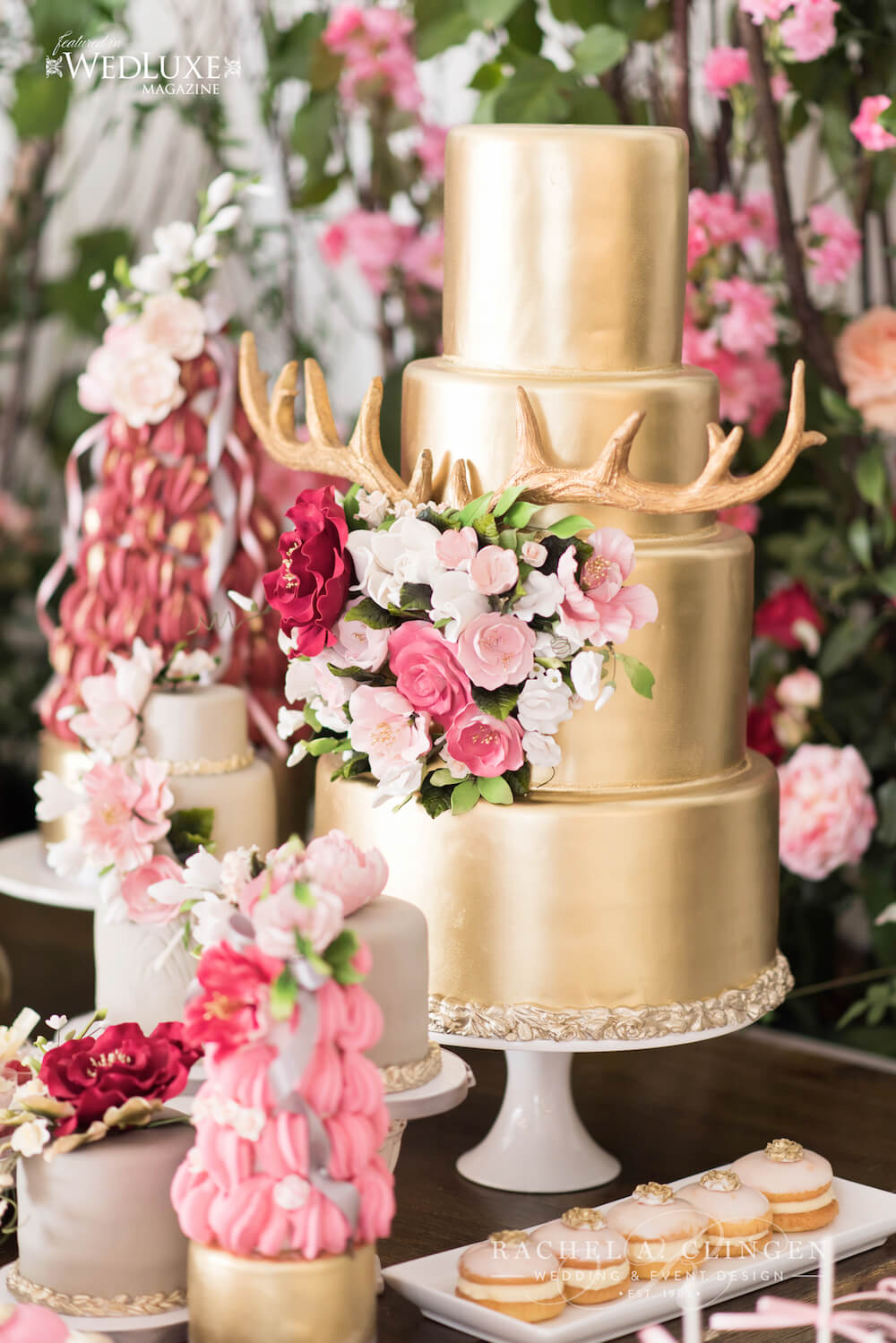 Coral Gold Pink Wedding Cakes Wedding Decor Toronto Rachel A