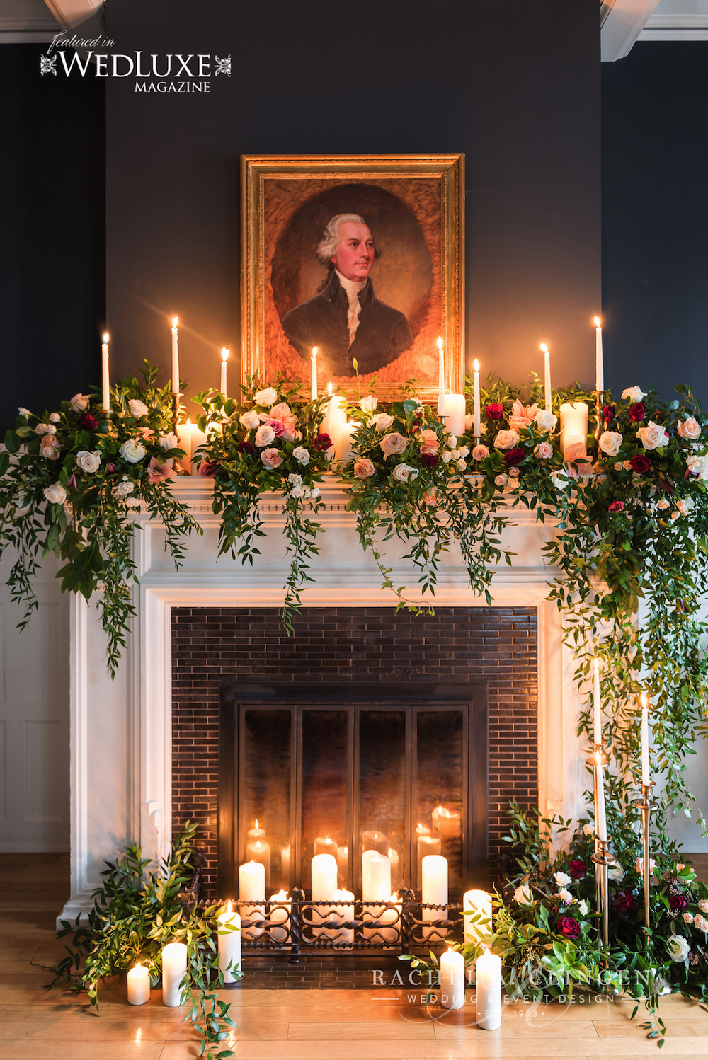 Fire Place Wedding Flowers Toronto