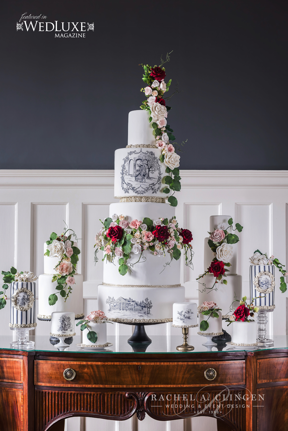 Luxury Wedding Cake Toille