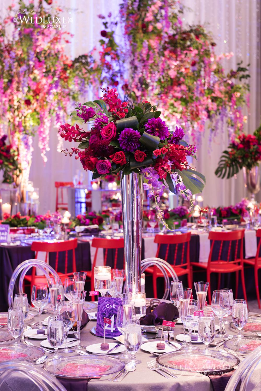 purple-red-modern-wedding-centrepiece