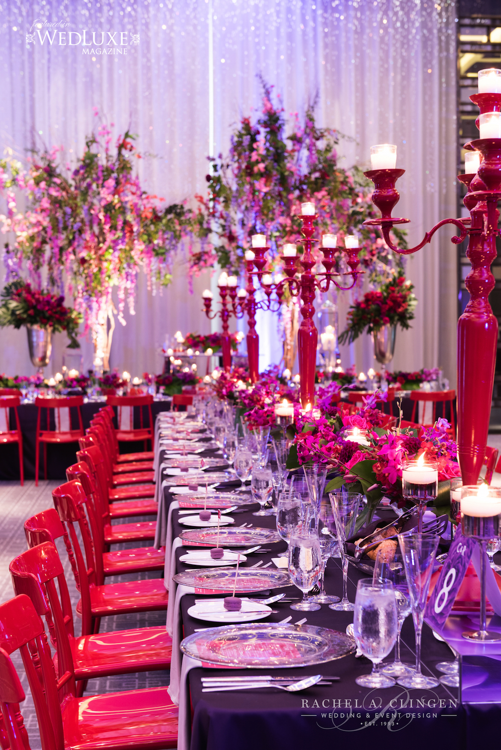 Blog wedding decor toronto rachel a clingen wedding for Red decoration for wedding
