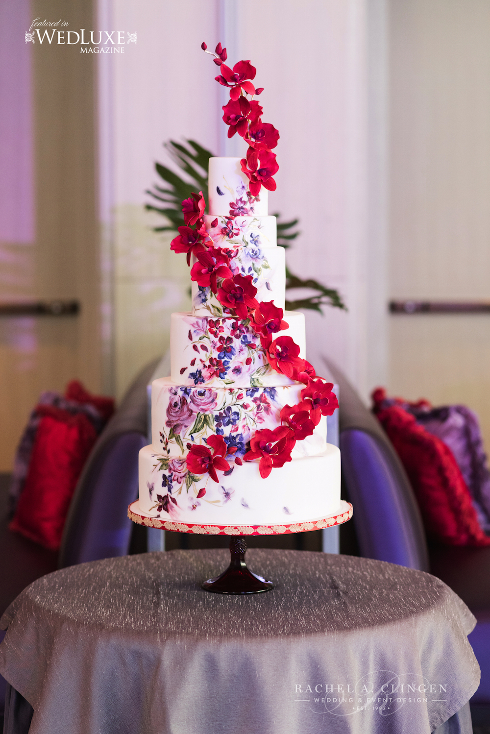red-purple-wedding-cake-toronto - Wedding Decor Toronto Rachel A ...