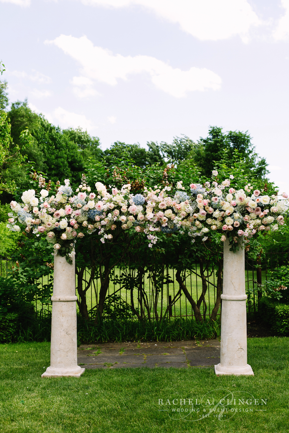 flower-arch-graydon-hall-wedding