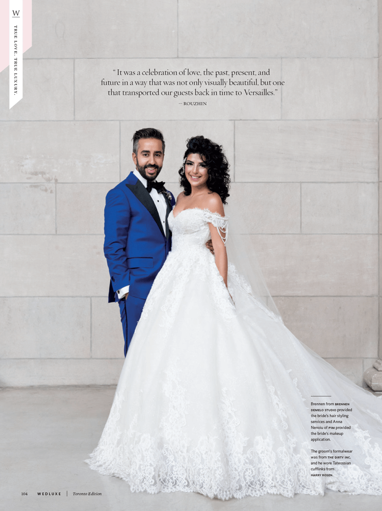 A Real  Wedding as featured in WedLuxe Winter/Summer 2017