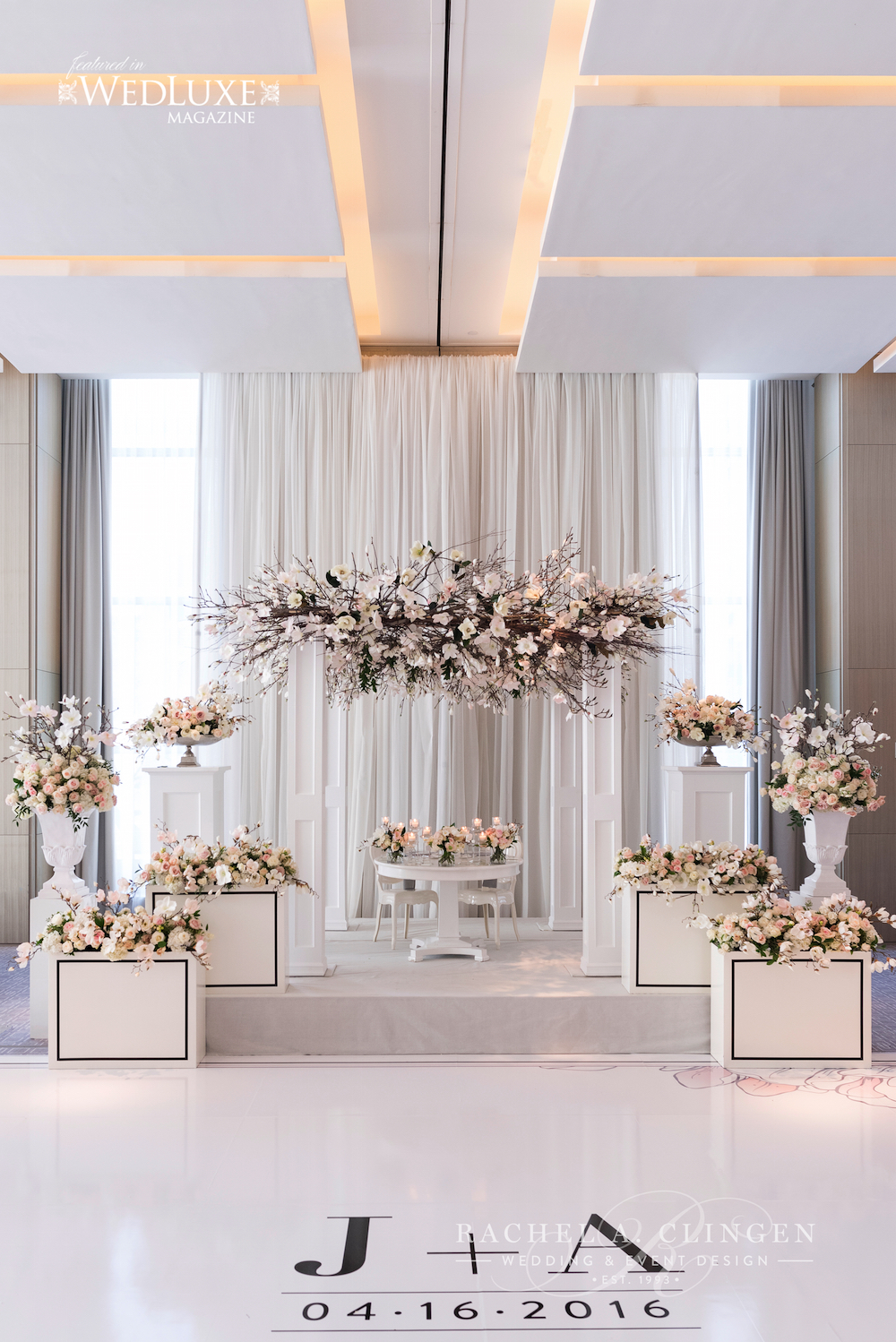 A spring magnolia wedding at the four seasons hotel for 4 seasons decoration