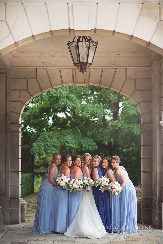 Blue bridesmaids dresses flowers wedding decor toronto rachel a blue bridesmaids dresses flowers izmirmasajfo