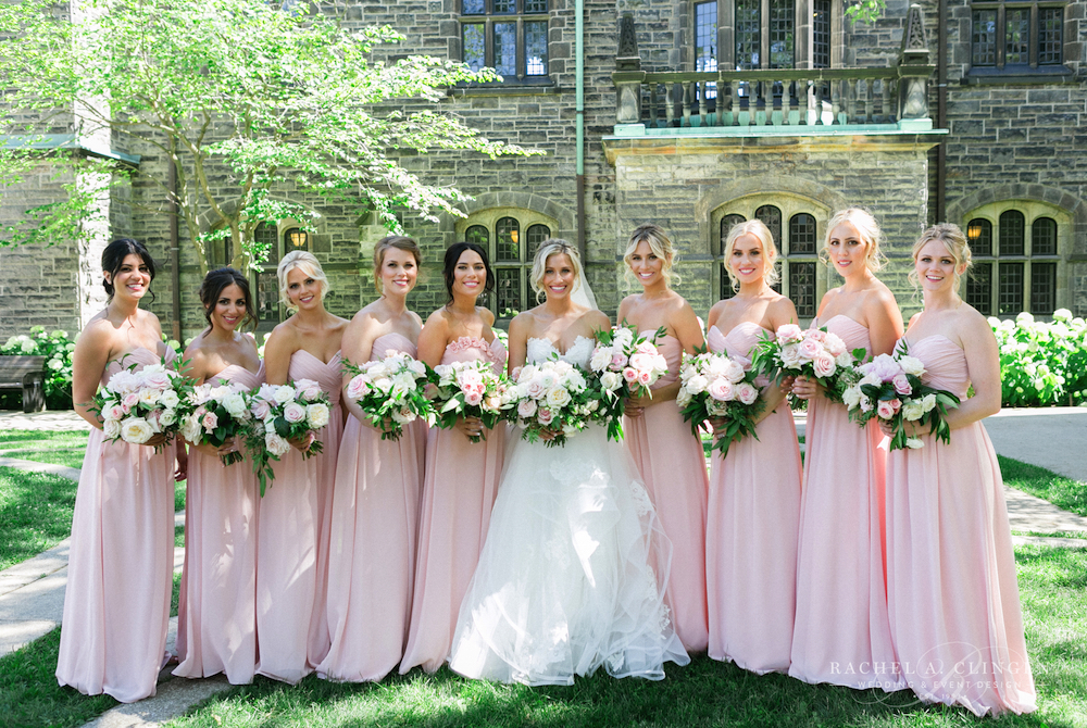 Blush Wedding Bridesmaids Dresses