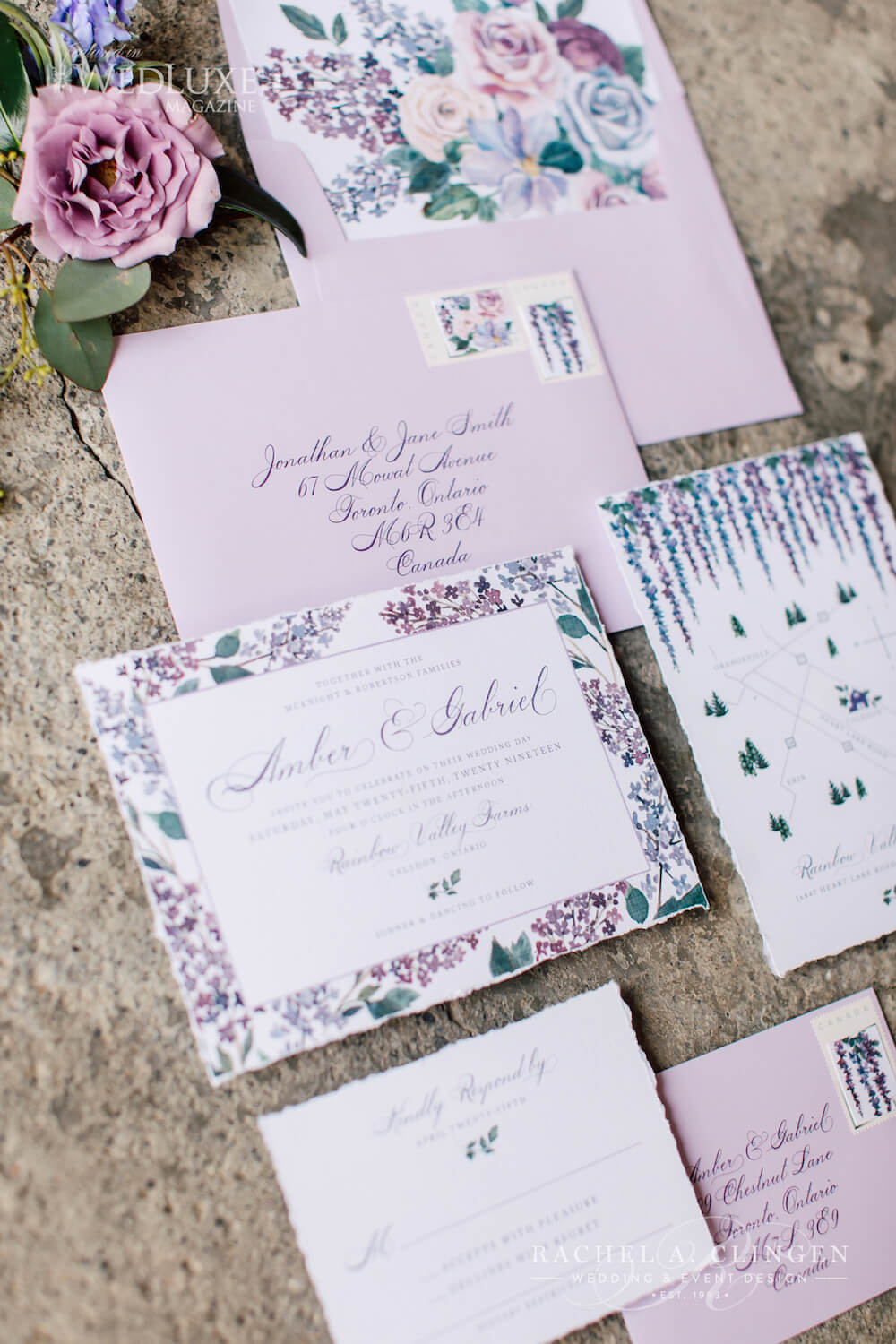 Lavender Lilac Wedding Stationery 1