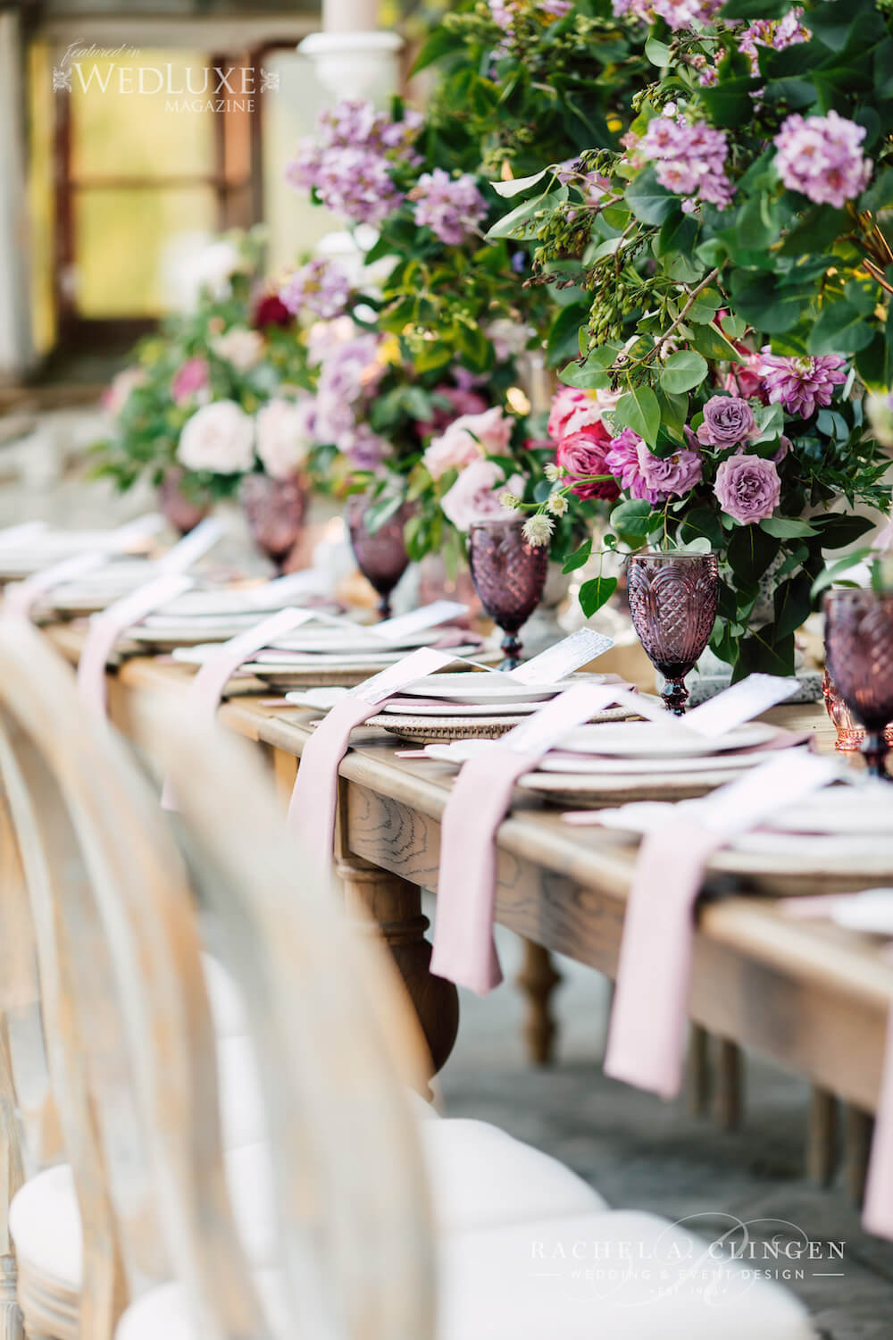 Lilac Wedding Tables