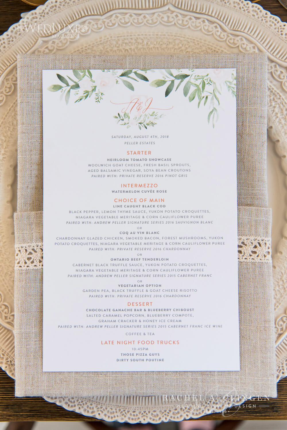 Winery Wedding Stationery