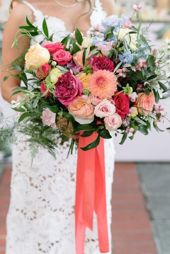 amalfi inspired bridal shower flowers