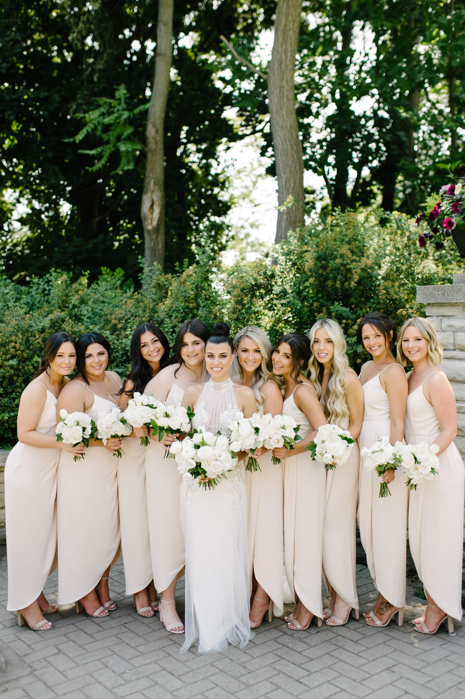 blush bridesmaids dresses 1
