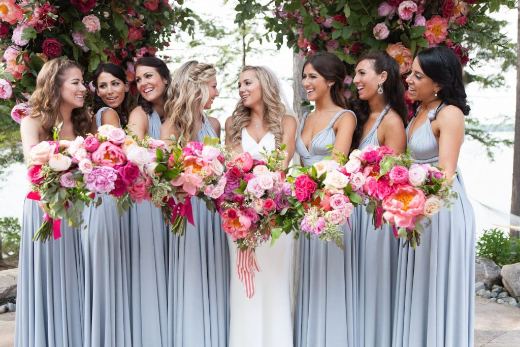 bridal flowers pink corals