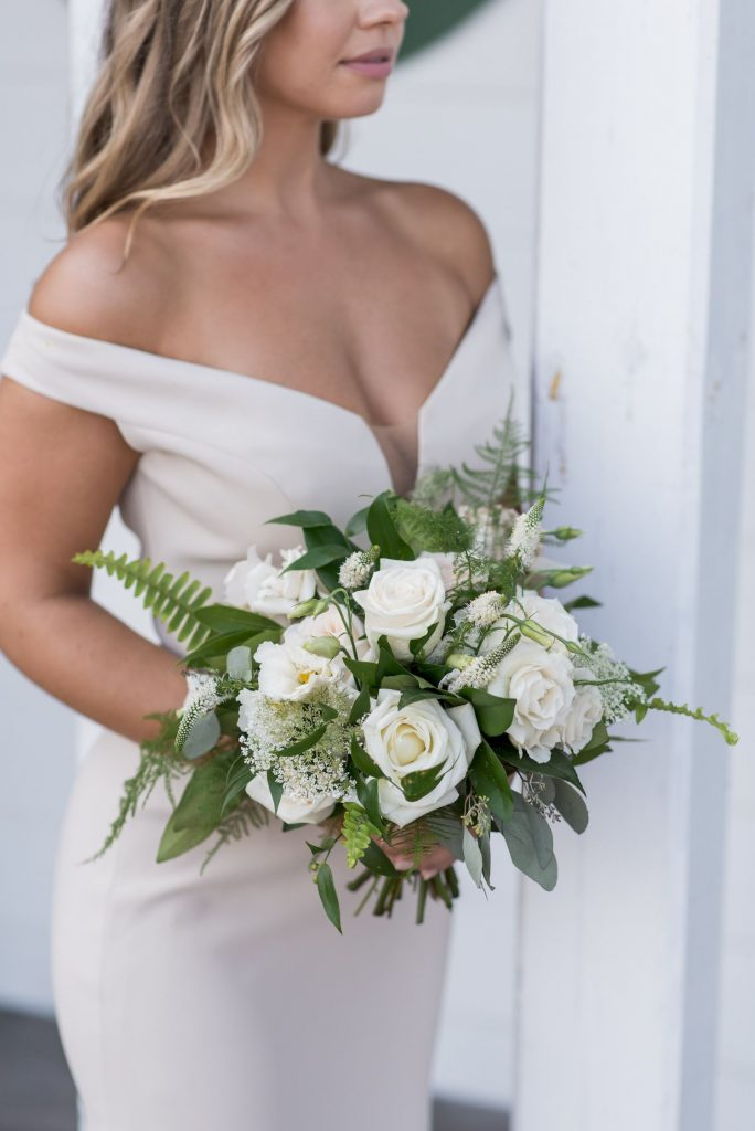 bridesmaid bouquet ivory