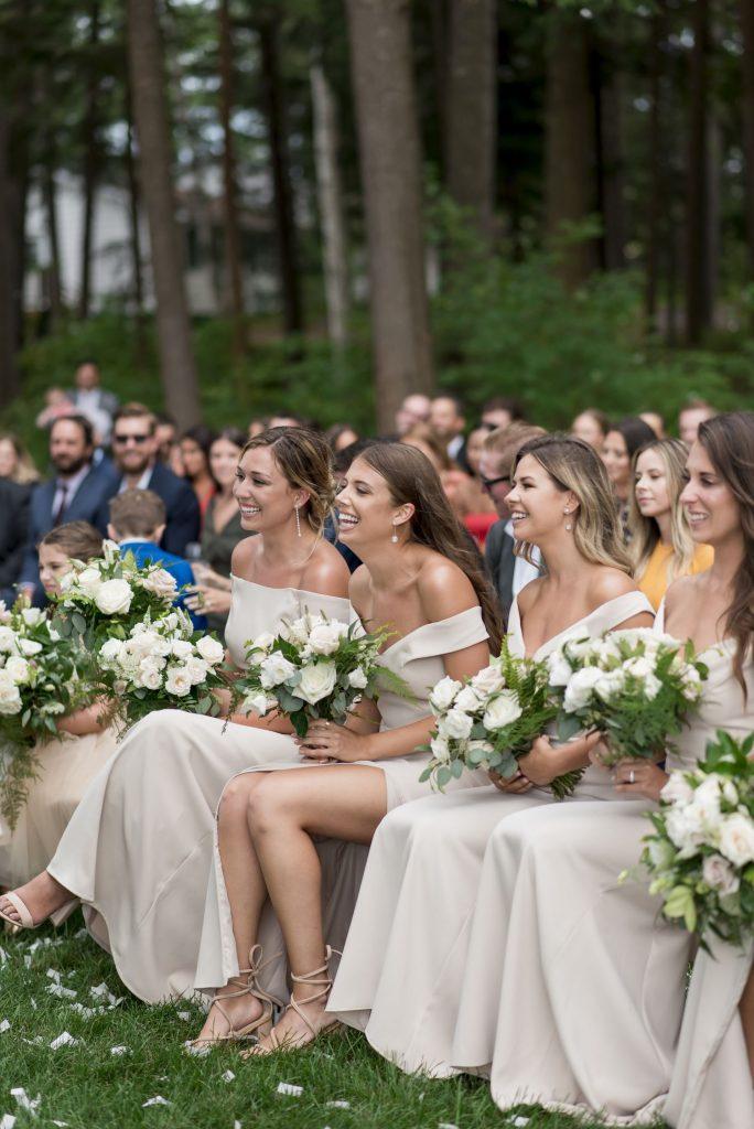 bridesmaids neutral bouquets
