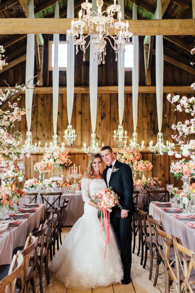 caleb chelsie luxury barn wedding