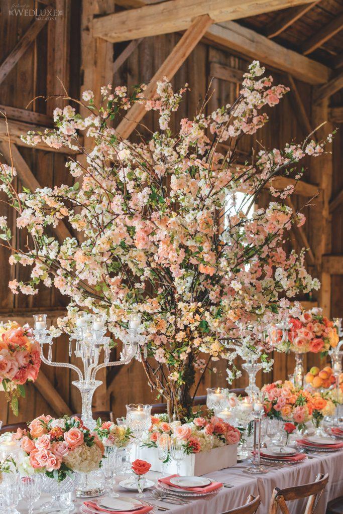 cherry blossom centrepieces