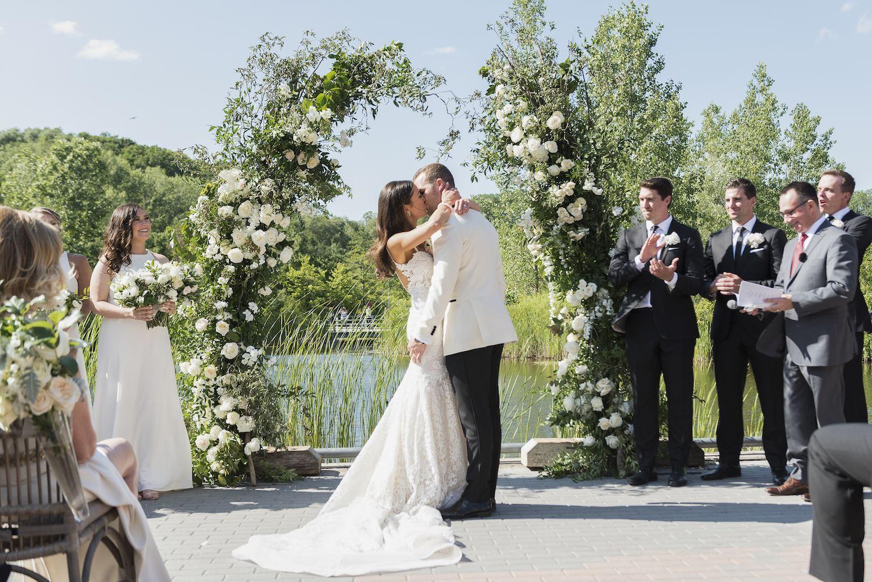 cody allie wedding flower arch