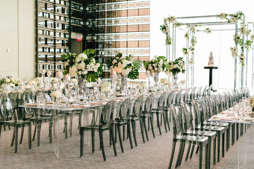 four seasons hotel modern wedding