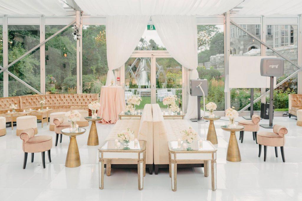 glass pavillion casa loma wedding