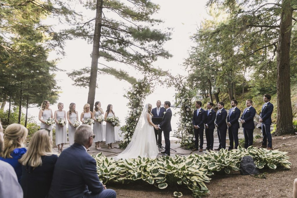 lindsay greg muskoka wedding ceremony