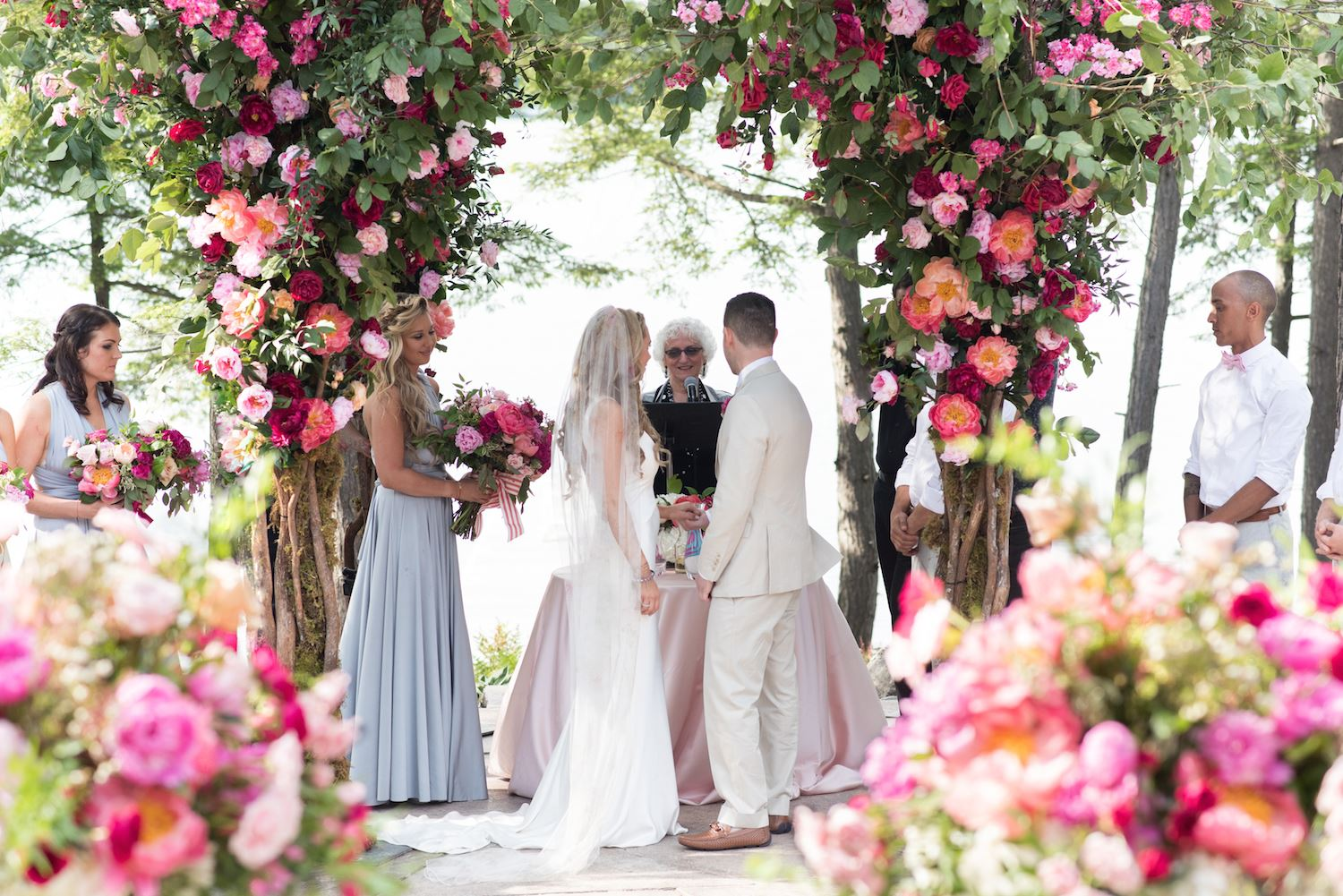luxury floral wedding chuppah rachel a clingen
