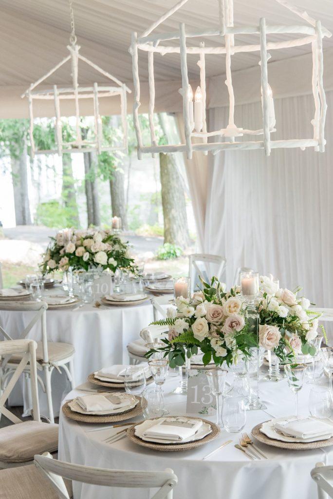 luxury tent wedding decor rachel a clingen
