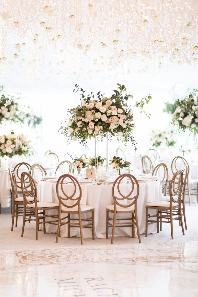 luxury tent wedding flowers rachel a clingen
