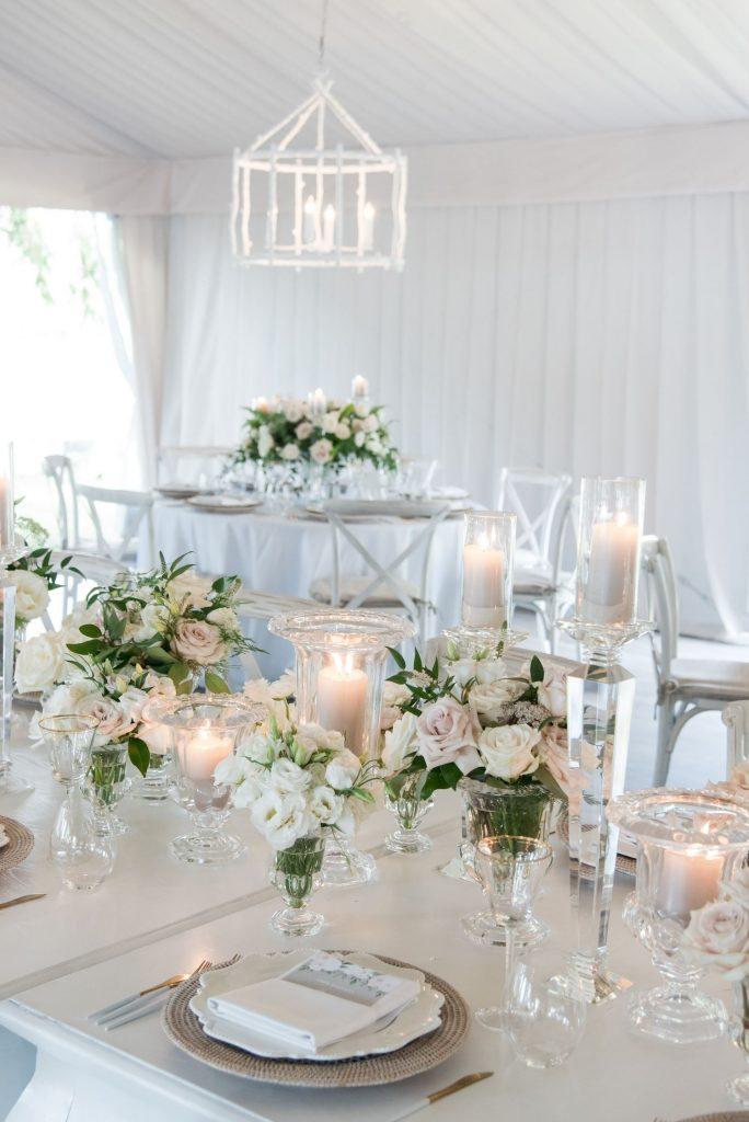 luxury wedding centrepieces flowers muskoka