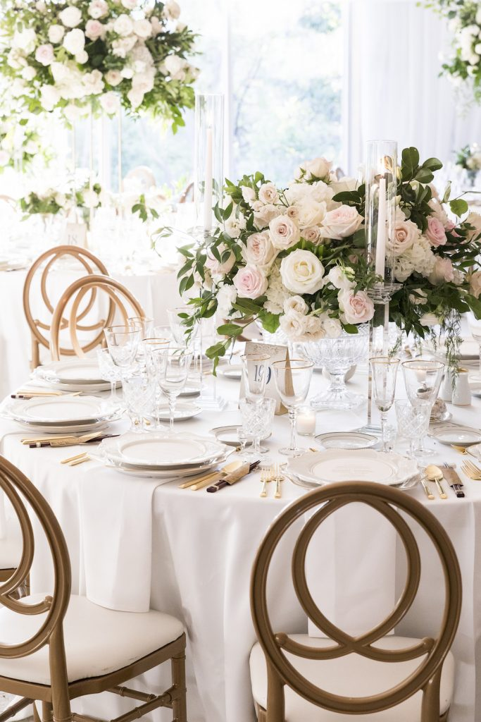 luxury wedding centrepieces rachel clingen