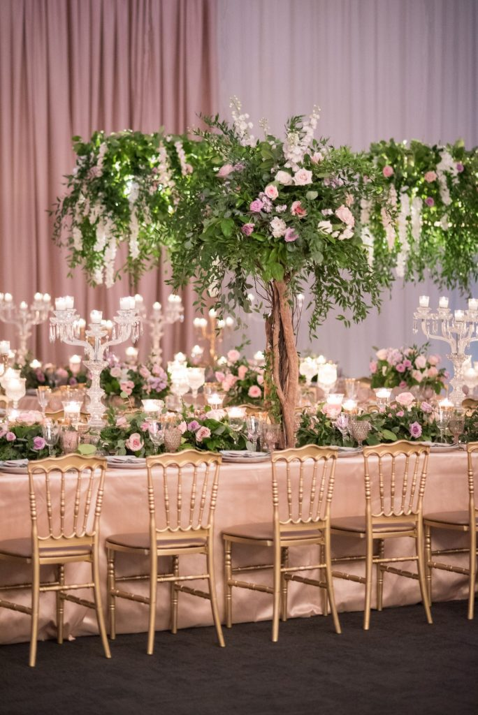 luxury wedding centrepieces trees