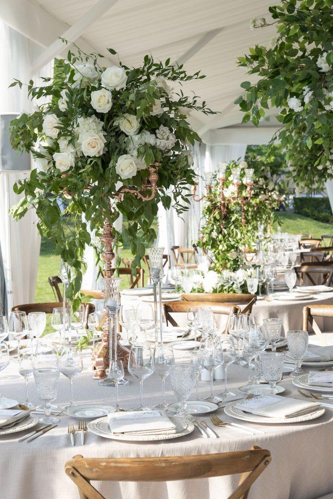 luxury wedding flowers candelabra toronto