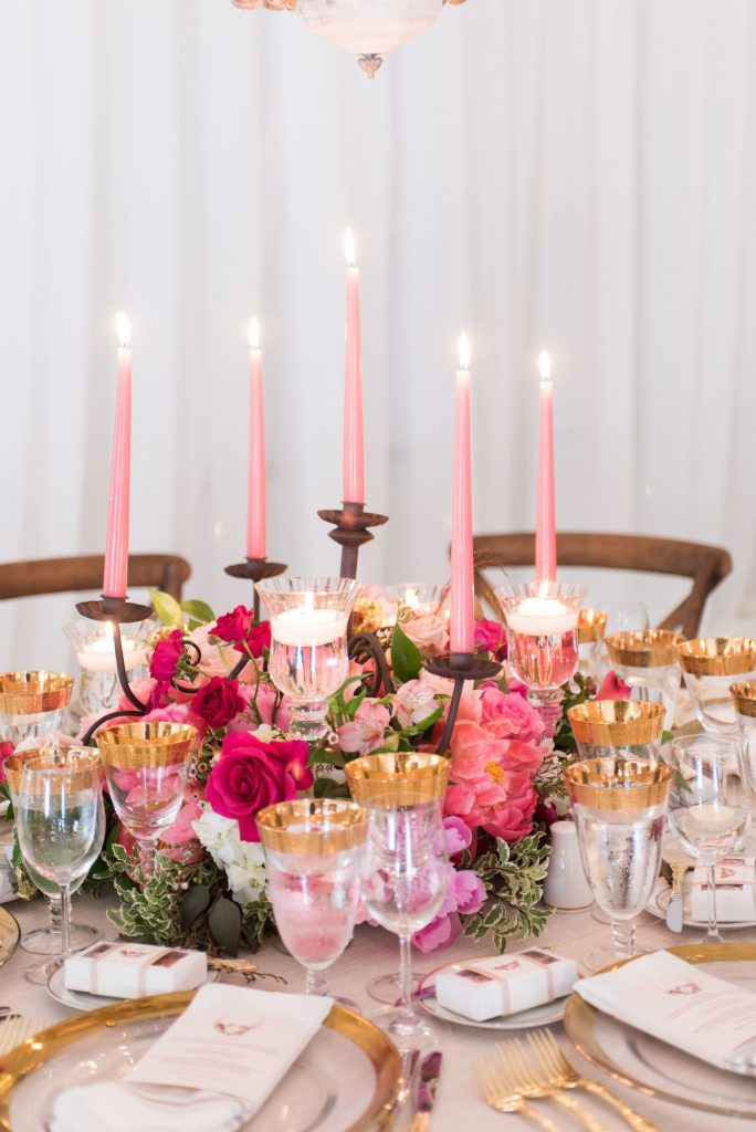 luxury wedding flowers coral centrepieces