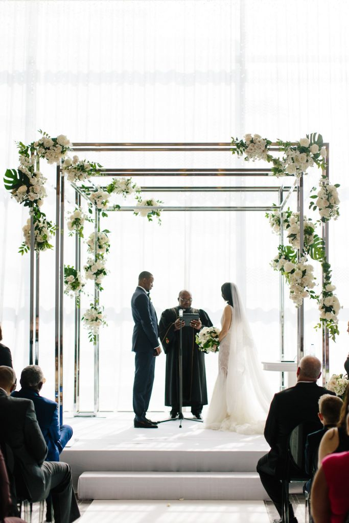 modern chrom wedding chuppah