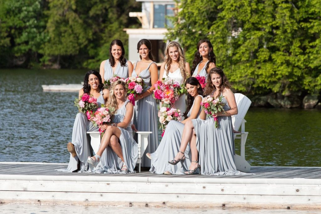 muskoka wedding flowers bridesmaids