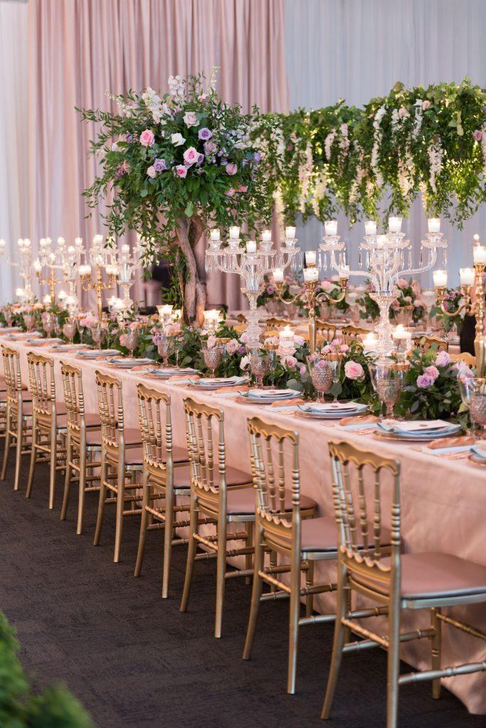 parisian wedding flowers decor