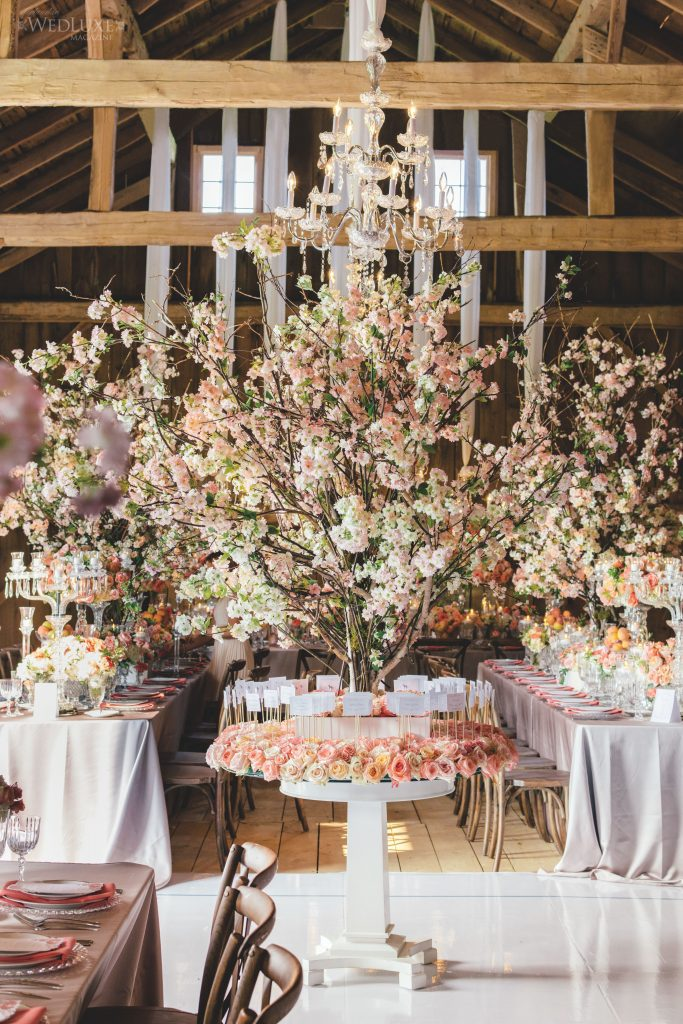 place card table flowers