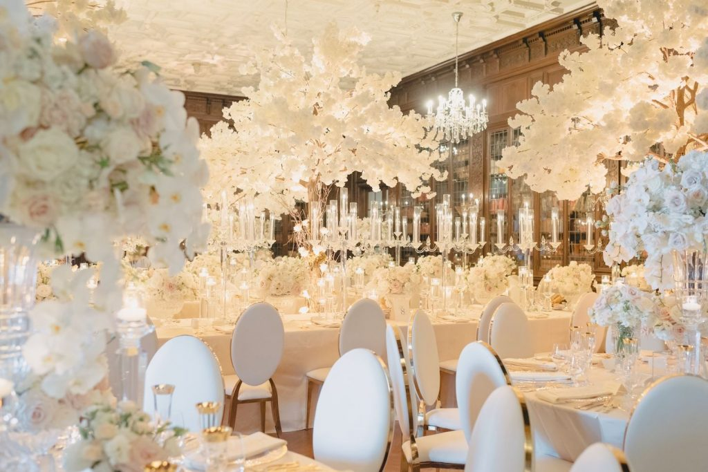 rachel a clingen wedding white trees