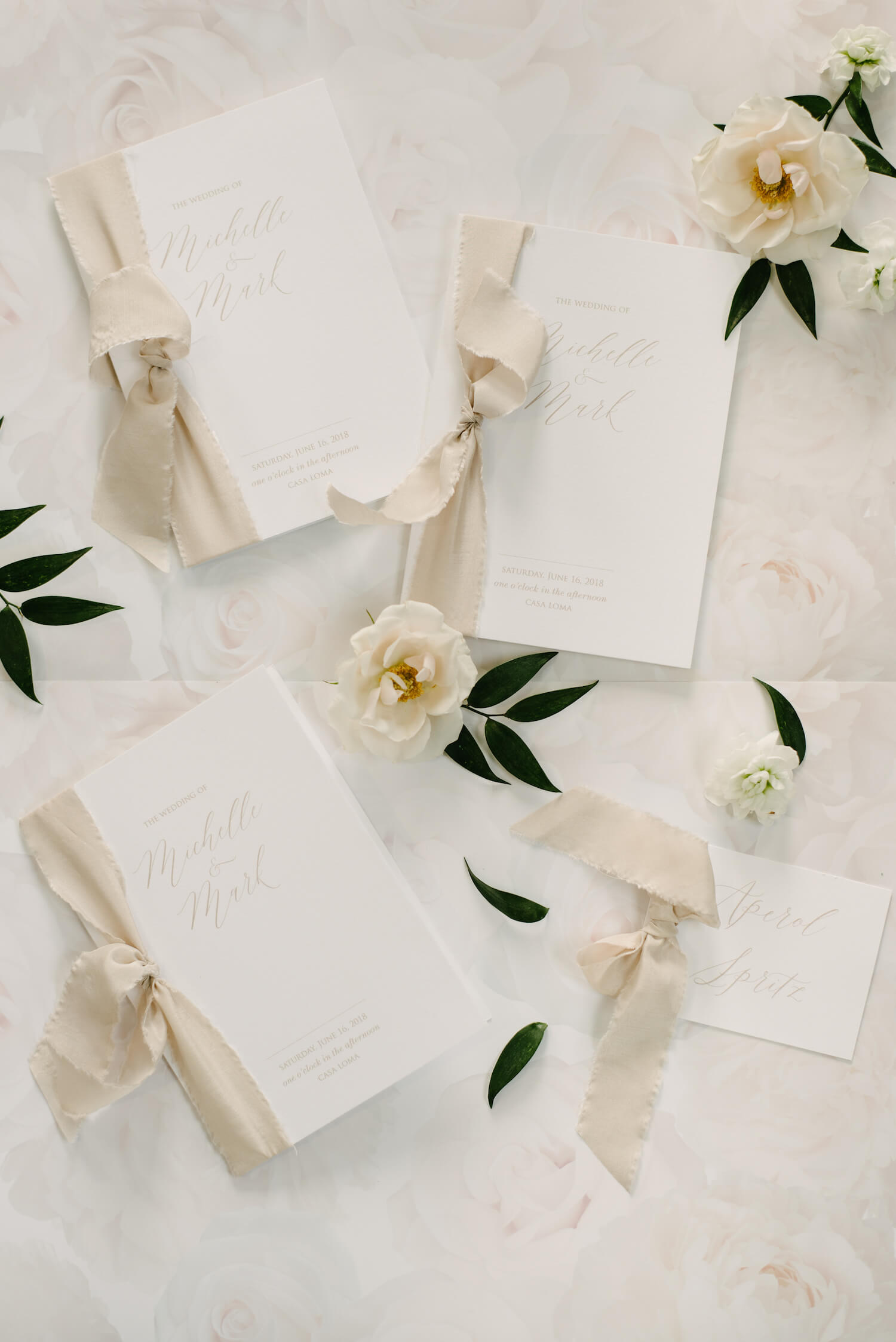 wedding all white stationery 1
