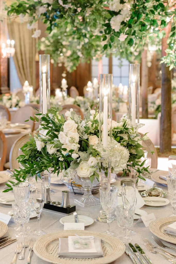wedding centrepieces ivory