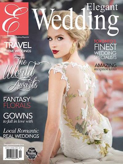 Elegant Wedding Magazine Cover Winter 2014